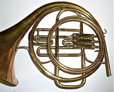 antique French horn